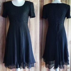 Adrianna Papell Cocktail Dress Black 8
